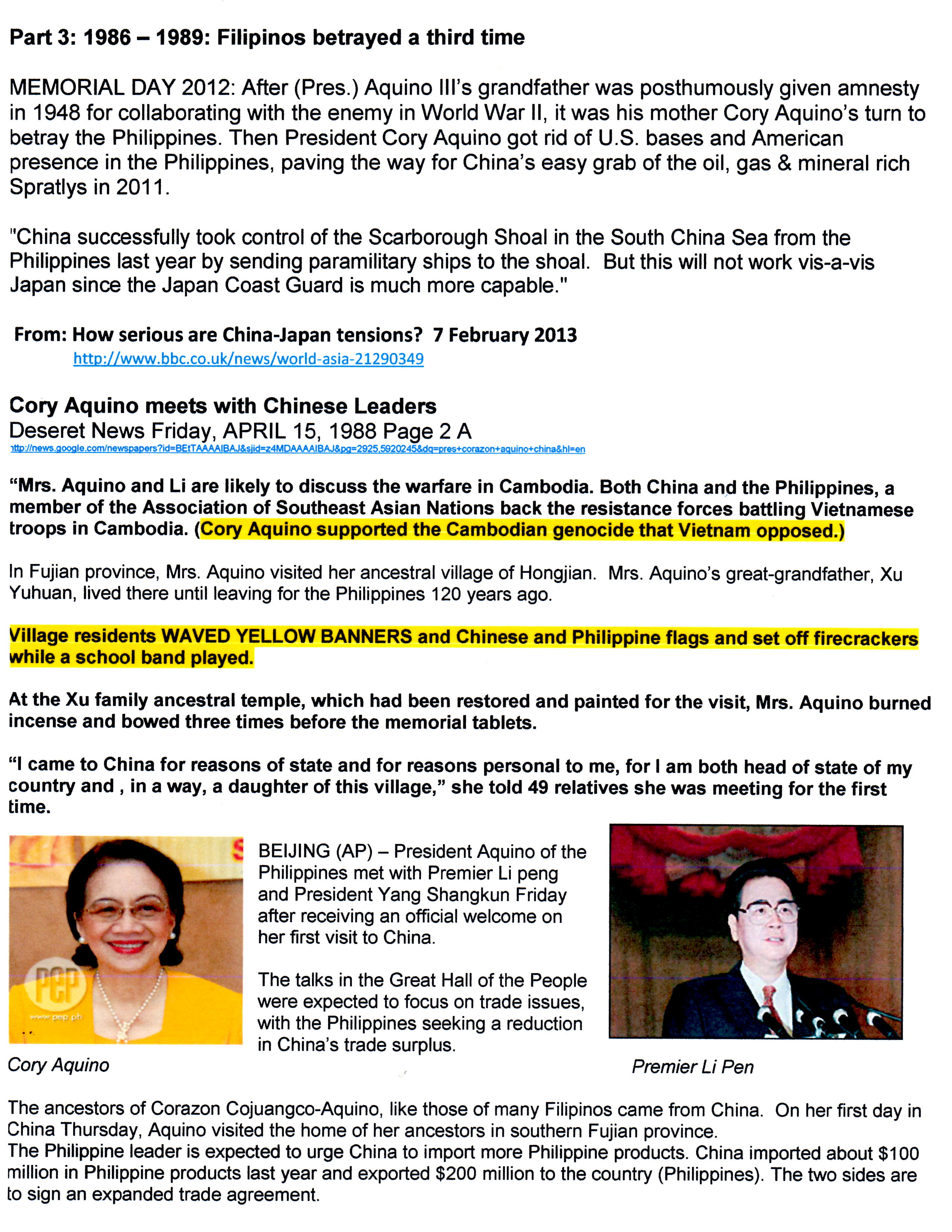 Blog Cory Aquino meets with Chinese Leaders 04-15-88