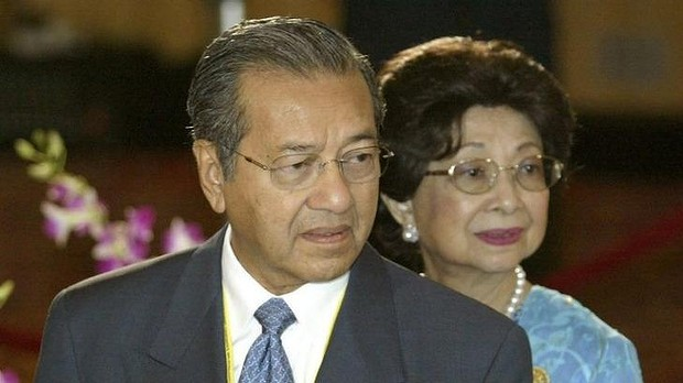Former Malaysian prime minister Mahathir Mohamad pictured in 2003 He was PM from 1981 to 2003.