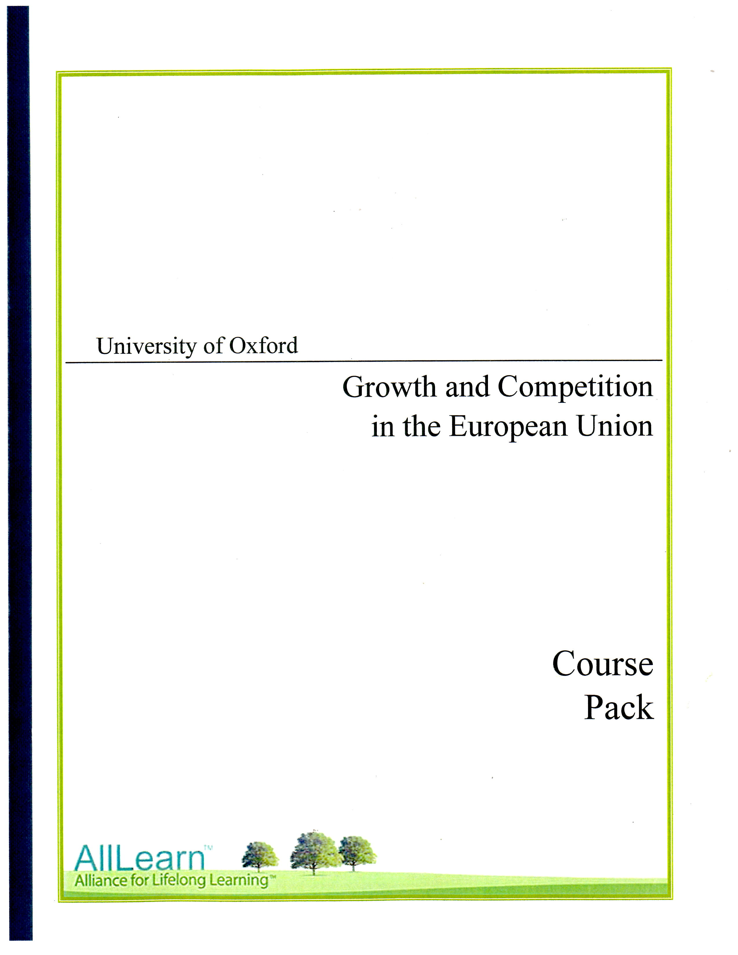 Blog - AllLearn 'Growth & Competition in the EU - Oxford