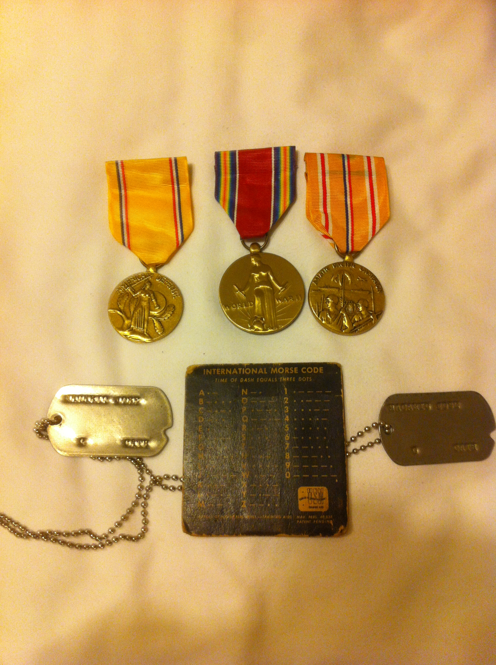 JR Macario WWII medals