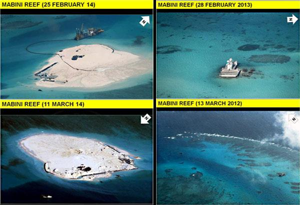 China reclaiming reefs in Spratlys 06-13-14