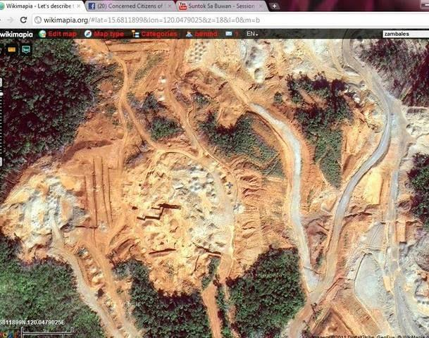 Chinese strip mining in Zambales, Philippines