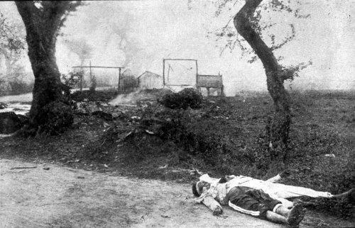 Philippine War 1899-1902 - Dead Filipino soldiers at Pasig.
