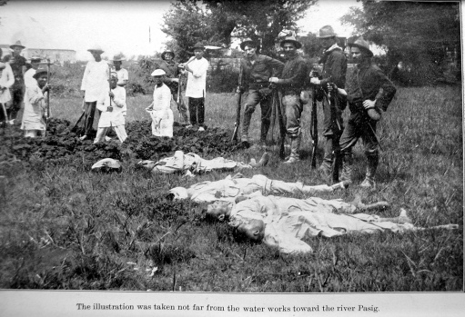 Philippine War 1899-1902 - Dead Filipino soldiers near Pasig River Mar. 1899