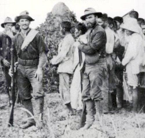 A roundup of Filipino civilians.