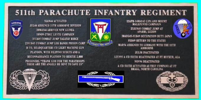 511th Parachute Infantry Regiment, 11th Airborne Division