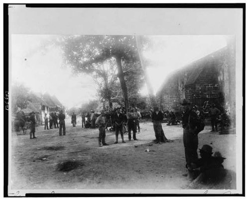 Maj. Gen. Henry Ware Lawton in Las Piñas Church. The view facing south towards Zapote,